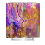 Pastel Planets Shower Curtain