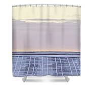 Pastel Plow Lines Shower Curtain