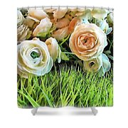 Pastel Roses Shower Curtain