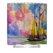 Pastel Sail Shower Curtain