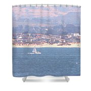 Pastel Sail Shower Curtain