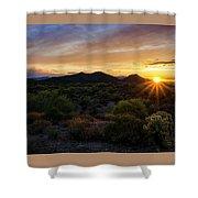 Pastel Sonoran Skies  Shower Curtain