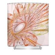 Pastel Spiral Flower Shower Curtain