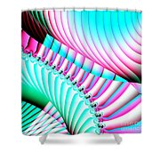 Pastel Spiral Staircase Fractal Shower Curtain