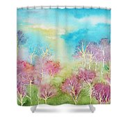 Pastel Spring Shower Curtain