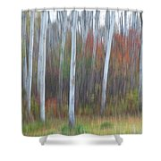 Pastel Tree Abstract Shower Curtain