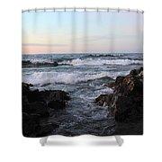 Pastel Water Sidewalk Shower Curtain