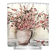 Pastels In Clay Pot Shower Curtain