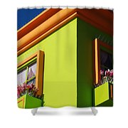 Pastle Corners Shower Curtain