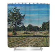 Pastoral Off Poplar Hill Road Shower Curtain