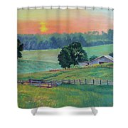 Pastoral Sunset Shower Curtain