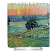 Pastoral Sunset Shower Curtain
