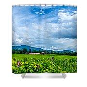Pastoral Vermont Farmland Shower Curtain