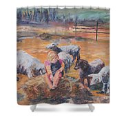 Pasture Acquaintances Shower Curtain