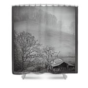 Pasture Field And Barn Shower Curtain