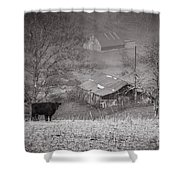 Pasture Field And Barns Shower Curtain