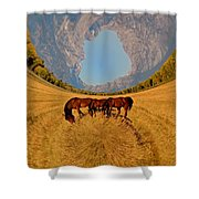 Pasture Of Another World Shower Curtain