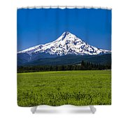 Pasture View Of Mt. Hood Shower Curtain