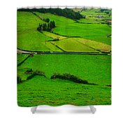 Pastures In The Azores Shower Curtain