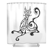 Pat Cat Shower Curtain