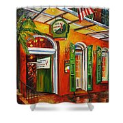 Pat O'brien's Bar On Bourbon Street Shower Curtain