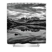 Patagonia Lake Reflection #2 - Chile Shower Curtain
