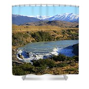Patagonia Landscape Of Torres Del Paine National Park In Chile Shower Curtain