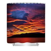 Patagonian Sunrise Shower Curtain