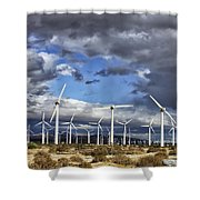 Patch Of Blue Palm Springs Shower Curtain