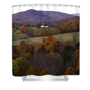 Patch Worked Mountains In Vermont Shower Curtain