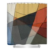 Patches In Harmony Abstract Shower Curtain