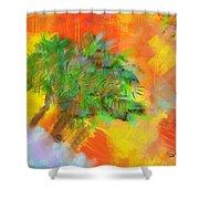 Patchwork Beach Town Shower Curtain