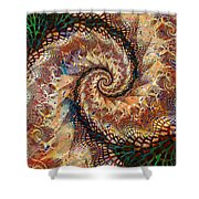 Patchwork Spiral Shower Curtain