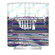 Patchwork White House Shower Curtain