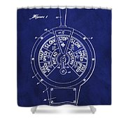 Patent 1921 Marine Telegraph Patent - Royal Blue Shower Curtain