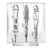 Patent Drawing For The 1953 Surgical Stitching Instruments By R. W. Thayer Shower Curtain