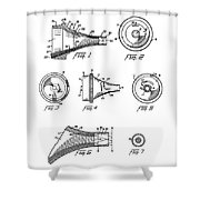 Patent Drawing For The 1962 Illuminating Means For Medical Instruments By W. C. More Etal Shower Curtain