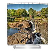 Paterson Water Falls Black And White Shower Curtain