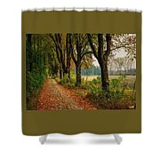Path Along The Horses Meadow On The Farm Lovedayvale L A S Shower Curtain