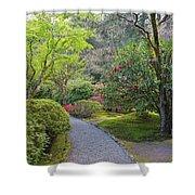 Path At Japanese Garden Shower Curtain
