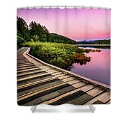 Path By The Lake Shower Curtain