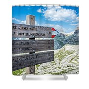 Path Directions Shower Curtain