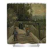 Path In Montmartre Paris  April - May 1886 Vincent Van Gogh 1853  1890 Shower Curtain