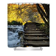Path In Plitvice Shower Curtain