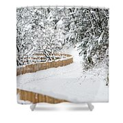 Path In Snow Shower Curtain