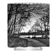 Path In The Park Shower Curtain