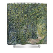 Path In The Woods Paris, May 1887 - July 1887 Vincent Van Gogh 1853  1890 Shower Curtain