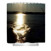 Path Of Sunlight On The Sea Shower Curtain