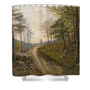 Path Through The Forest Shower Curtain