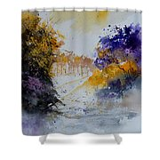 Path To ... Watercolor  Shower Curtain